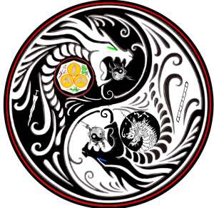 Dueling dragons martial arts