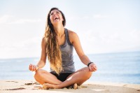 happy yoga benefits smiling face improve nostril breathing