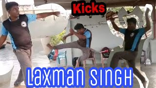 Round kick flying kick jump kick by laxman singh at waliv vasai | mma | karate kicks | bxrank.com