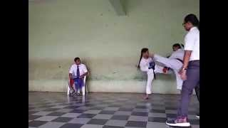 Karate Tournament Semi Final Fight Scene 30 Aug 2015   Pooja   Vartak School, Vasai