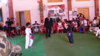 Awesome karate fight by kids karate
