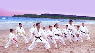awesome karate practice near beach