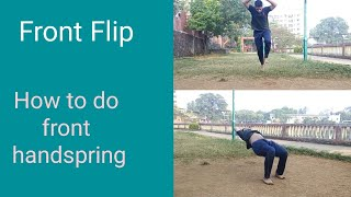 How to do front flip | front handspring | easy flip | gymnastic bxrank