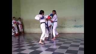 Karate Tournament Final Fight Scene 30 Aug 2015   Pooja   Vartak School, Vasai