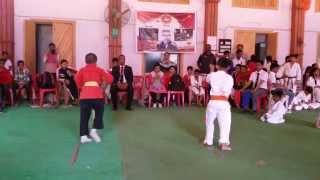 Awesome kata by little kids in karate competition