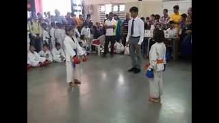 Karate Tournament Final Fight Scene 30 Aug 2015 | Simran | Vartak School, Vasai