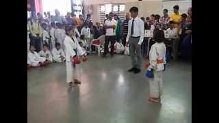 Karate Tournament Final Fight Scene 30 Aug 2015   Simran   Vartak School, Vasai