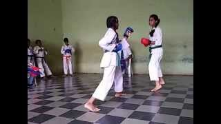 Karate Tournament Semi Final Fight Scene 30 Aug 2015 | Priya | Vartak School, Vasai