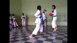 Karate Tournament Semi Final Fight Scene 30 Aug 2015   Priya   Vartak School, Vasai